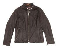 SCHOTT Leather Motorcycle Jacket S Small Womens CAFE RACER Vintage Biker Jacket