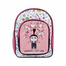 Despicable Me 3 Agnes Backpack Unicorns Pink Glitter Girls School Bag Travel New