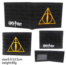 Harry Potter Deathly Hallows black rubber wallet purse card money holder