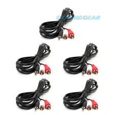 5X 10FT 3.5MM AUX RCA MALE PLUG AUDIO STEREO JACK BLACK CABLE IPHONE IPOD TOUCH