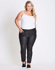 Autograph Black Studio east Coated Jeans pants ZIP + BUTTON + pockets 16 NEW