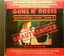 "Guns N'Roses""November Rain(Vol.1)""Live in USA 1991  CD AUSTRALIA SEALED"