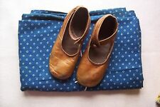 Antique Vtg Edwardian LEATHER BUTTON CHILDS SHOES  French German Bisque Doll