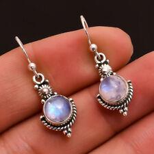 f9a2a4316 Silver Rainbow Topaz Hollow Waterdrop Moonlight Stone Women Drop Dangle  Earrings