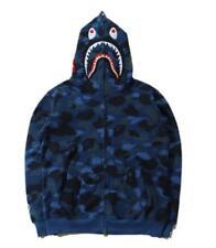 8.A Bathing Ape BAPE Unisex Shark Jaw Camo Full Zipper Hoodie Sweats Coat Jacket