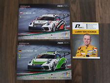 Porsche Carrera Cup Autogrammkartenset unsigniert 3 Stück