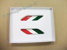 New Genuine Fiat 500 Italian Flag Motif Front Wing Badge Emblem Kit 50901681