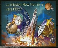 Togo 2015 The New Horizons Mission To Pluto Souvenir Sheet Mint Nh