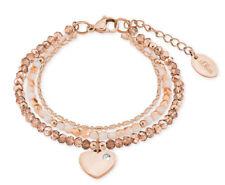 s.Oliver Damen Armband 2018356 Damenarmband Armkette Rose Herz Herzen