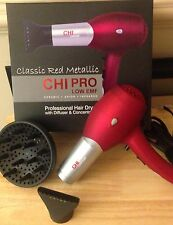 Brand New Chi Pro Low EMF Professional Hair Dryer RED , SALE