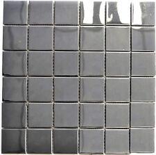 Mosaik silber silver Edelstahl glänzend Fliesenspiegel Küche 129-48G | 10 Matten
