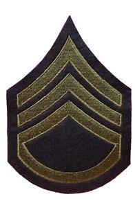 US Arm Rank Insignia - Staff Sergeant Stripes, WW2 US Army reproduction Iron on