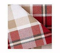 JCP Home 100% Cotton Heavyweight Flannel Sheet Set Modern Red Plaid Twin Size