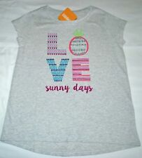 Gymboree Mix N Match Glitter LOVE Sunny Days Gray Shirt Small 5 6 Kid Girls NWT