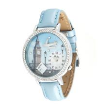 Reloj MINI WATCH 3D ref. MN1046 Mujer caja acero con pedrería piel celeste