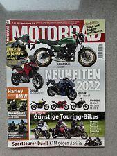 Motorrad Zeitschrift 21 - Ausgabe 01.10.2021 - NEU aus Abo, Neuheiten 2022