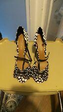 Ladies blue & white size 40 Kurt Geiger heels