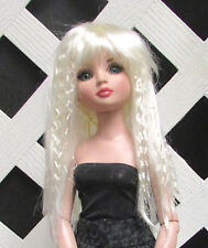 "Doll Wig, Monique Gold ""J-Rock"" Size 7/8 in White Blonde"