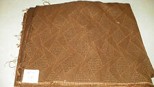 Brown Abstract Print Damask Upholstery Fabric 1 Yard  F163