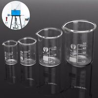 1Set 5ml-600ml Chemistry oratory Glass Beaker Borosilicate Measuring