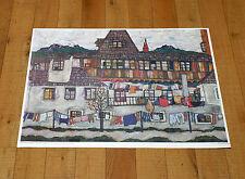 EGON SCHIELE poster manifesto affiche plakat Art Häuser mit bunter Wäsche A21