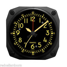 New TRINTEC  VINTAGE COCKPIT STYLE Travel Alarm Clock  Aviator DM65V-2016 3.5""