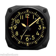 "New TRINTEC  VINTAGE COCKPIT STYLE Travel Alarm Clock  Aviator DM65V-2016 3.5"""