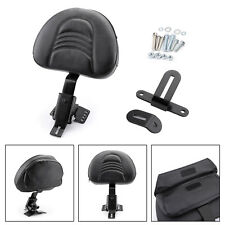 Plug-In Driver Rider Backrest Kit For 97-18 Touring Road Electra Street Glide BK