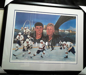 Brett Hull / Adam Oates signed/autographed Lithograph Limited Edition with COA
