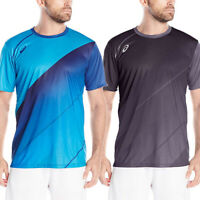 Asics Jersey Short Sleeve Workout Shirt Men Athletic Activewear Running Tennis