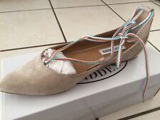 Steve Madden Nude Sued Lace Up Flat Size 10
