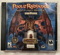 Pool Of Radiance Ruins Of Myth Drannor D&D 2 Disc CD Rom RPG Ubisoft PC Game