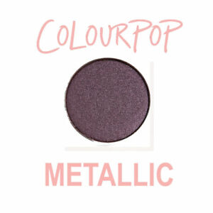 ColourPop Pressed Powder Eye Shadow Pan - HUNG UP - metallic blackened purple