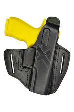 B26 Leder Holster für Sig Sauer P320 X Carry  Pistoleholster schwarz VlaMiTex