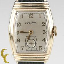 Bulova Men's Vtg 10k Gold Filled Mechanical Hand-Winding Watch Gift for Him!