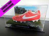 ✺Signed✺ LANCE FRANKLIN Football Boot PROOF COA Swans Hawthorn 2021 Jumper AFL