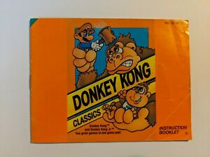 Nintendo NES Manual Donkey Kong Classics