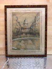Dessin Ancien Paris 1929, Le Panthéon Rue Soufflot
