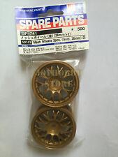 Tamiya 50741 Rc Car 1/10 26mm Gold Mesh Wheels (2pcs,Offset +2)
