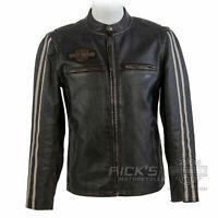 """Orig. Harley-Davidson Lederjacke, Vintage, """"SLEEVE STRIPE"""" 97048-19VM"""