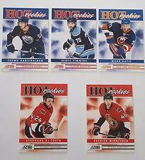 2011-12 Score HOT rookies set of 5 NHL hockey cards assorted teams
