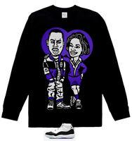 Long Sleeve Martin & Gina stunt on him xi shirt for air Jordan 11 Retro Concord