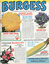 1962 BURGESS SEED & PLANT CATALOG-GARDEN, FLOWER AND FIELD SEEDS-68 PAGES