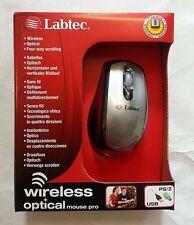LABTEC Optical WIRELESS MOUSE 4 way scrolling mice + USB-PS/2 dongle adaptor UK
