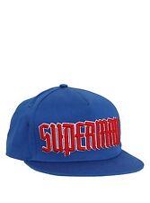 New Superman Wordmark DC Comics Snapback Flat Brim Hat Cap