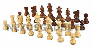 Maio Chess PIECES ONLY Weighted Wood Set, MEDIUM 2.5 Inch King, NO BOARD, New
