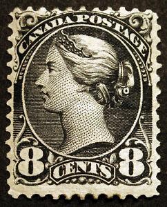 Canada #44 8c Violet Black Queen Victoria 1888-97 VF MLH Spotty OG Crease