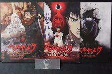 JAPAN Berserk: The Golden Age Arc I & II & III Pamphlet Set W/Bookmark