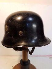 WW2 WWII Original GermanM-34 TENO helmet Deutsche Polizei:Technische Nothilfe