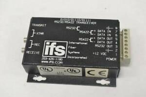 GE IFS D1010/D1110/D1111 RS232 / RS422 FIBRE TRANSCEIVER + POWER SUPPLY  New Box
